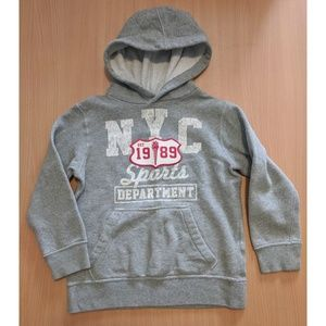 Size 7/8 Grey NYC hoodie by The Children's Place